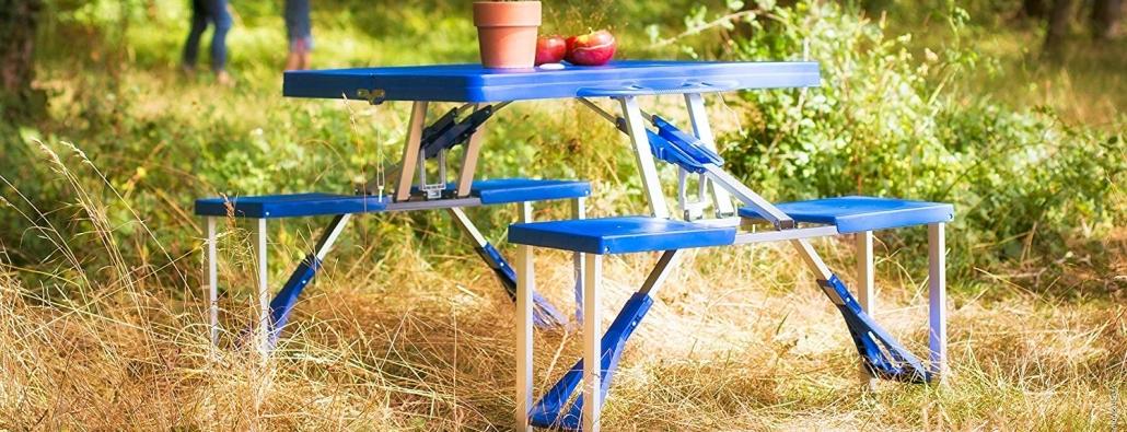 Tavolo Da Picnic Richiudibile A Valigetta Con 4 Seggiolini Incorporati.I Migliori Tavoli Pieghevoli Offerte E Prezzi Di